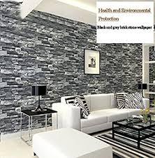 3d schwarz grau simulation brick pvc tapete wasserdicht