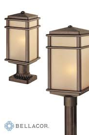 Feiss Mission Lodge Corinthian Bronze One Light 7 Inch Wide Integrated LED Outdoor Post Mount