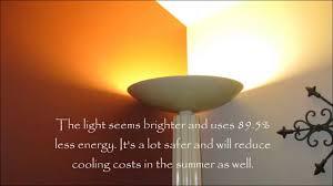 300 Watt Halogen Floor Lamp Bulb by Convert Halogen Torchiere Lamp To Led Youtube