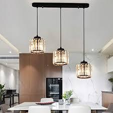 kristall pendelleuchte 3 flammig kristallle modern luxus k9 hängele für kücheninsel esszimmer esstisch bar cafe loft balkon treppe