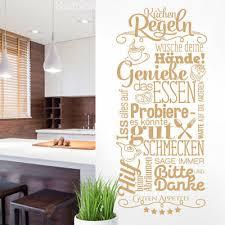 küchenregeln küche esszimmer wandtattoo wandsticker deko