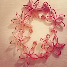 Diy Paper Crafts Wall Decor Red Rolling With Quilling Pap On