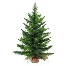 24 Mini Balsam Pine Artificial Christmas Tree In Burlap Base