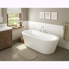 Maax Bathtubs Home Depot by Maax Sax 60 In Fiberglass Flatbottom Bathtub In White American