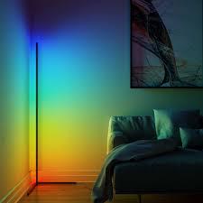 moderne led ecke boden le atmosphäre licht lichter bunte schlafzimmer wohnzimmer dekoration innen beleuchtung stehend len