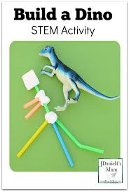 Gumdrop Christmas Tree Stem Activity by Build A Dino Stem Activity Build A Dinosaur Using Straws And