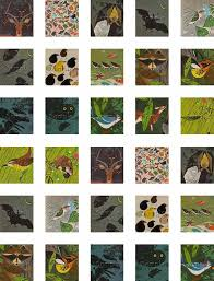 vintage printable woodland creatures digital scrabble tile collage