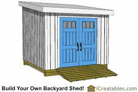 10x10 lean to shed plans icreatables