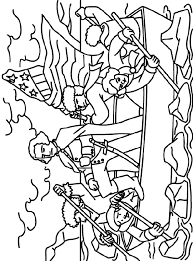 George Washington Crosses Delaware Coloring Page