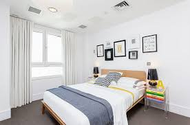 Bold Black And White Bedrooms With Bright Pops Color