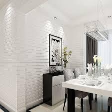 HaokHome ZZ 03 Vinyl Faux White Brick Wallpaper For Living Room WallPaper Walls 208 X 3937