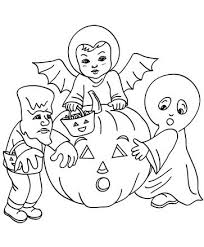 Costume Coloring Pages Printable Kids Halloween