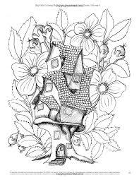 Big Kids Coloring Book Fairy Houses And Doors Vol 4 50