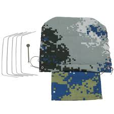 100 Canvas Truck Cap WPL B16 B24 RC Car Spare Parts Hood Cover Aerial Camouflage