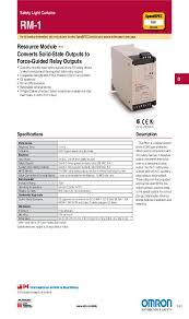 Sti Ms4800 Light Curtain Manual by Rm 1 Omron United States