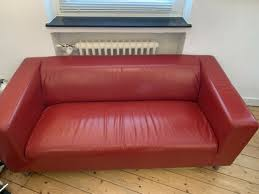 2 sitzer leder sofa rot klippan ikea eur 28 00