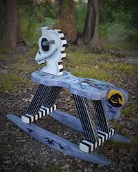 Nightmare Before Christmas Themed Room by Nightmare Before Christmas Inspired Rocking Horse Hand Painted