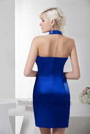 chic royal blue halter party homecoming cocktail dresses