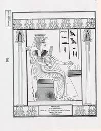 Ancient Egypt Nefertari Coloring Page