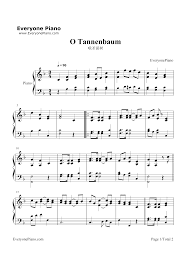 Listen Now Print Sheet Oh Christmas Tree O Tannenbaum Song Stave Preview 1