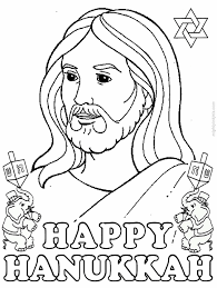 Printable Hanukkah Coloring Pages Menorahs Jesus