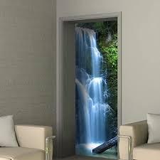 selbstklebende türfolie türtapete türposter wasserharmonie 85 x 210 cm 1 teilig fototapete design badezimmer frische doorprint landschaft