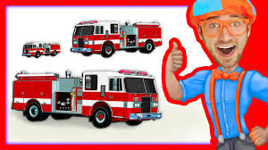 100 You Tube Fire Truck Compilation Of Blippi Toys Videos S And More Kids
