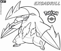 Excadrill A Subterranean Pokemon Pansage Monkey Coloring Page
