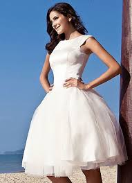 Our Favorite Etsy Wedding Dress Stores Knee Length Bateau Neck Ball Gown In