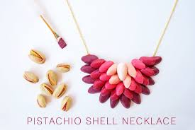 DIY Handmade Ombre Necklace Pistachio Shells Craft Upcycle Tutorial