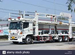 100 Truck Carrier CHIANGMAI THAILAND FEBRUARY 4 2016 ANI Logistics Group Carrier