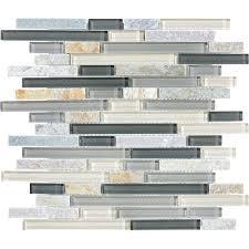 bliss 5 8 x random silver aspen linear mosaic anatolia