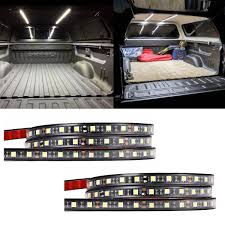100 Truck Bed Lighting System AUDEW 2Pcs 60 Light Strips Unloading Cargo Light With