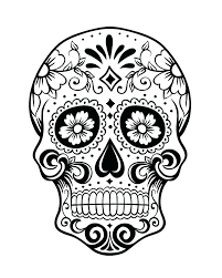 Day Of The Dead Skull Coloring Pages Printable For Adults Ad Sugar Colouring Adult Tailed Advanced