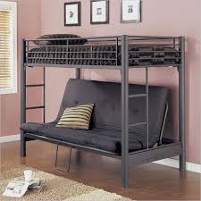powell matte black textured twin over futon metal bunk bed