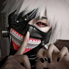 Scary Halloween Half Masks by Tokyo Ghoul Mask Scary Mascaras Halloween Masks Cosplay Kaneki Ken