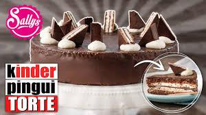 kinder pingui torte chocolate cake schokoladentorte mit sahnecreme sallys welt