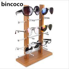 Bincoco Sun Glasses Eyeglasses Plastic Frame Display Stands Shelf Eyewear Counter Show Stand Holder Rack