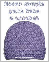 Gorro simple para bebe a Crochet