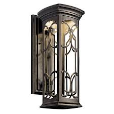 kichler 49226ozled led outdoor wall mount wall porch lights