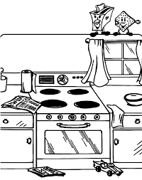 Kitchen Messy Coloring Pages PagesFull Size Image