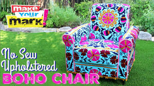 How To: No Sew Upholstered Boho Chair - YouTube Chair Slipcovers Unique Ding Cap Covers Pinterest Inside Childs Rocking Chair Wood Rocking Children39s Room Arm Pottery Barn Couches For Sofa Cope Fniture Awesome Sectional Sure Fit Target Bedding Reviews Bed Plush Terry Velour Lounge Gcmloungecover French Country Door Patio Fniture The Home Depot Cheap Chaise Lawn Find Deals How To No Sew Upholstered Boho Youtube Replacement Cushions Outdoor Couch Protectors Pads Walter Drake