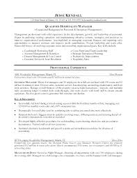 Resumes Objective Samples Resume For Management Examples Hospitality