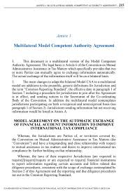 Multilateral Model petent Authority Agreement