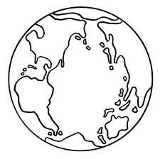 Picture Of The Earth Coloring For Kids