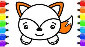 Personaje Animal De Dibujos Animados Del Zorro Vector De Stock