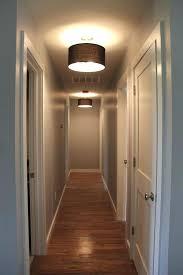 led hallway lighting ideas white with glass coloured pendant