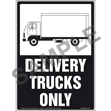 100 Signs For Trucks Delivery Only Sign Black White With Icon