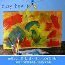 Today I Am Sharing An Easy Art Portfolio Made From Your Childs Some Poster Board And Tape Or Clear Contact Paper You Might Even Like To Make One For