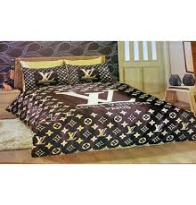 LOUIS VUITTON SATIN BED SHEET SET These are the most fashionable